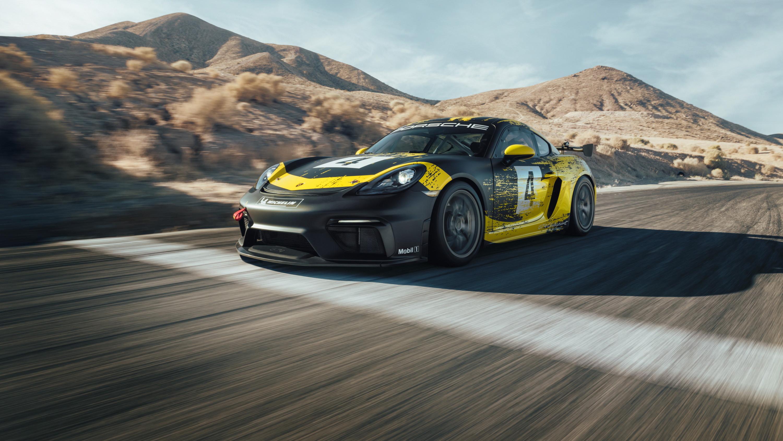 2019 Porsche 718 Cayman GT4 Clubsport Front Three-Quarter Wallpaper (3)