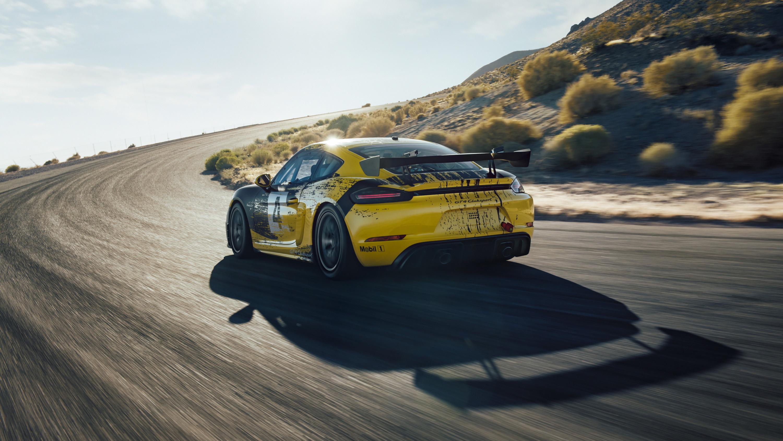 2019 Porsche 718 Cayman GT4 Clubsport Rear Wallpaper (10)