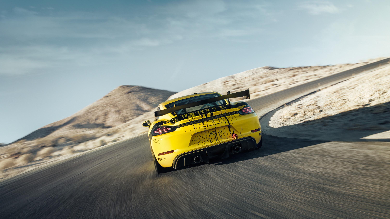 2019 Porsche 718 Cayman GT4 Clubsport Rear Wallpaper (8)
