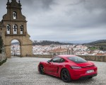 2019 Porsche 718 Cayman T (Color: Guards Red) Rear Three-Quarter Wallpapers 150x120 (43)