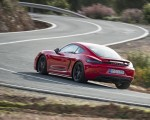 2019 Porsche 718 Cayman T (Color: Guards Red) Rear Three-Quarter Wallpapers 150x120 (26)