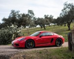 2019 Porsche 718 Cayman T (Color: Guards Red) Side Wallpapers 150x120 (45)