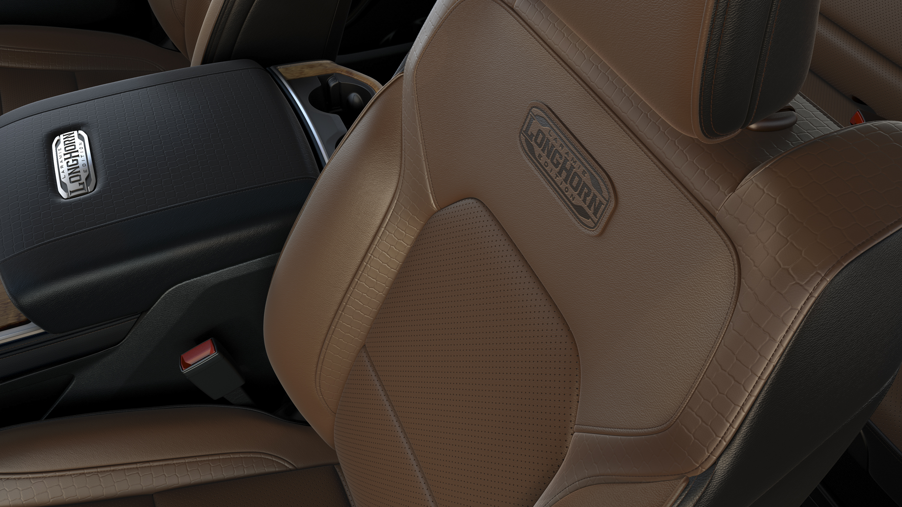2019 Ram 1500 Laramie Longhorn Edition Interior Front Seats Wallpapers (12)