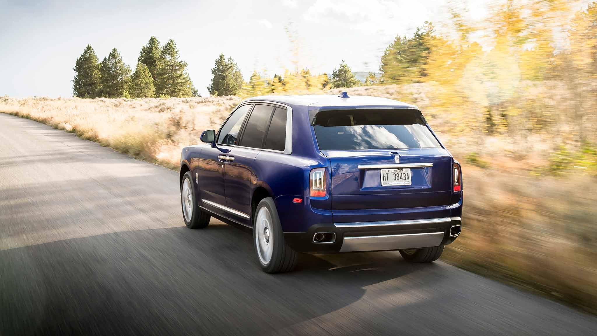 2019 Rolls-Royce Cullinan (Color: Salamanca Blue) Rear Wallpapers (6)