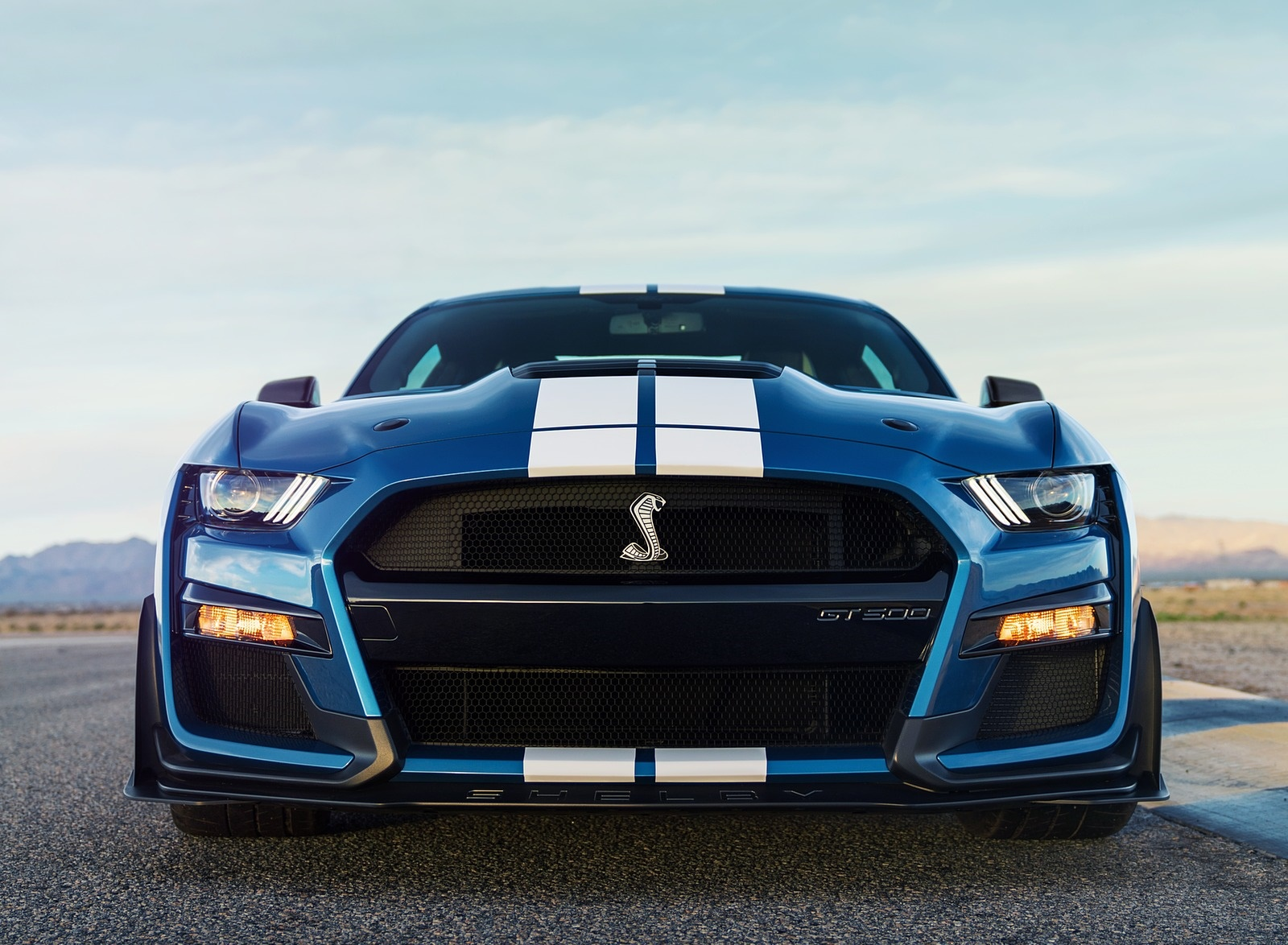 2020 Ford Mustang Shelby Gt500 Front Wallpapers 82 Newcarcars