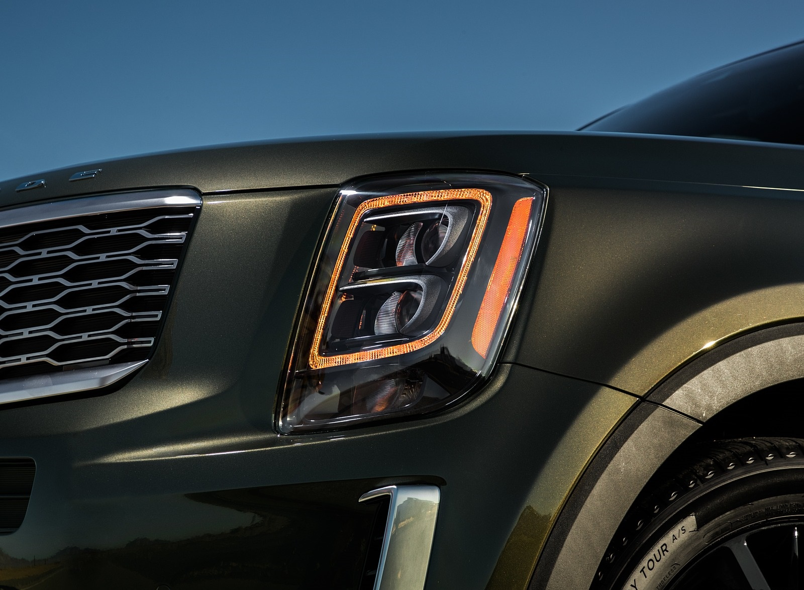 2020 Kia Telluride Headlight Wallpapers (7)
