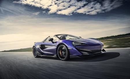 2020 McLaren 600LT Spider (Color: Lantana Purple) Front Three-Quarter Wallpaper 450x275 (2)