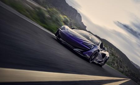 2020 McLaren 600LT Spider (Color: Lantana Purple) Front Three-Quarter Wallpaper 450x275 (3)
