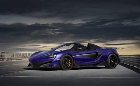 2020 McLaren 600LT Spider (Color: Lantana Purple) Front Three-Quarter Wallpaper 450x275 (17)