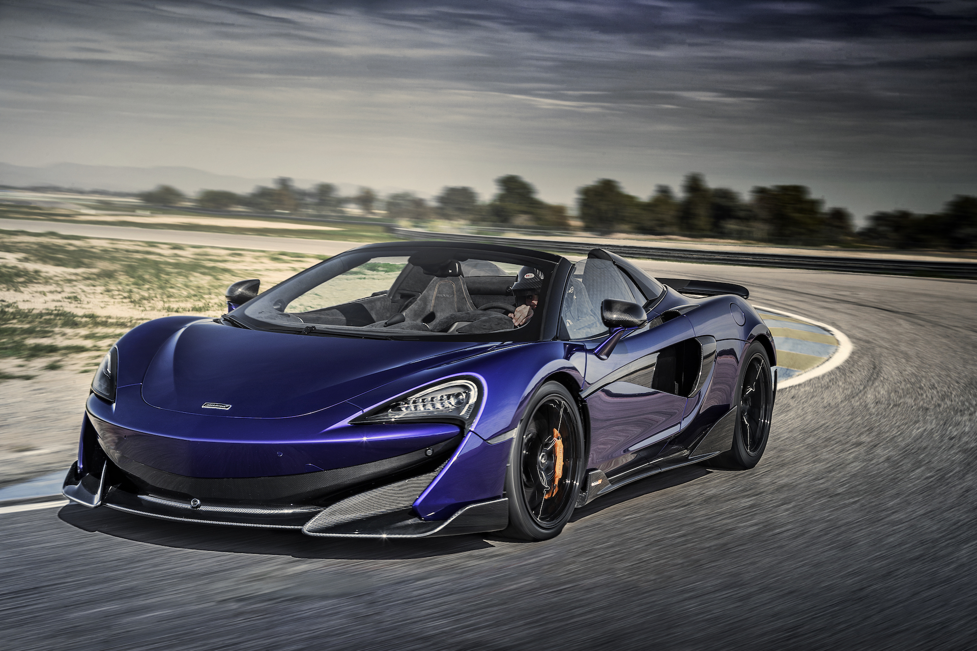 2020 McLaren 600LT Spider (Color: Lantana Purple) Front Three-Quarter Wallpapers #12 of 99