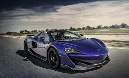 2020 McLaren 600LT Spider (Color: Lantana Purple) Front Three-Quarter Wallpaper 450x275 (4)