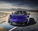 2020 McLaren 600LT Spider (Color: Lantana Purple) Front Wallpapers 150x120