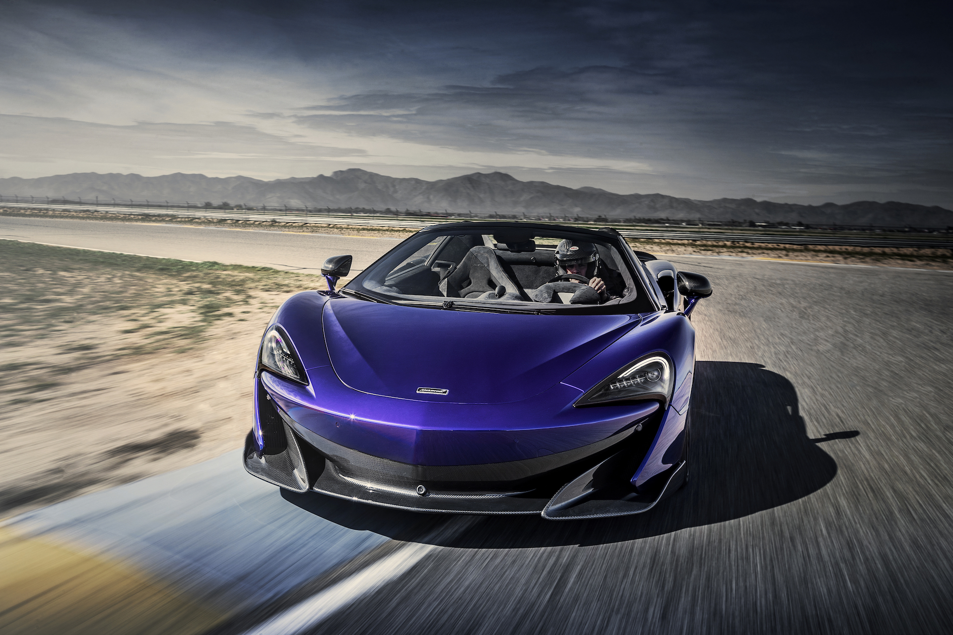 2020 McLaren 600LT Spider (Color: Lantana Purple) Front Wallpaper (1)