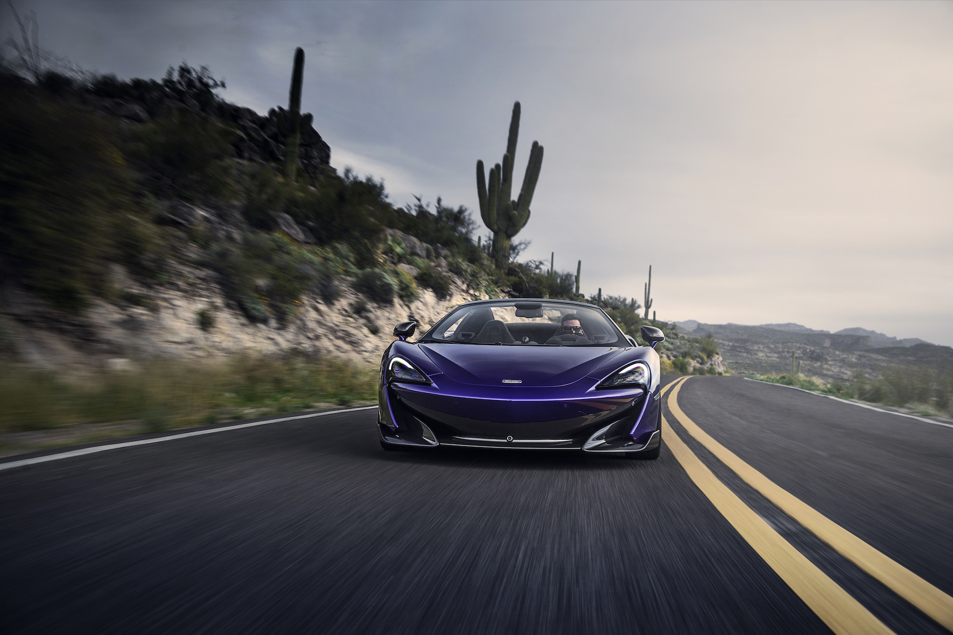 2020 McLaren 600LT Spider (Color: Lantana Purple) Front Wallpaper (5)