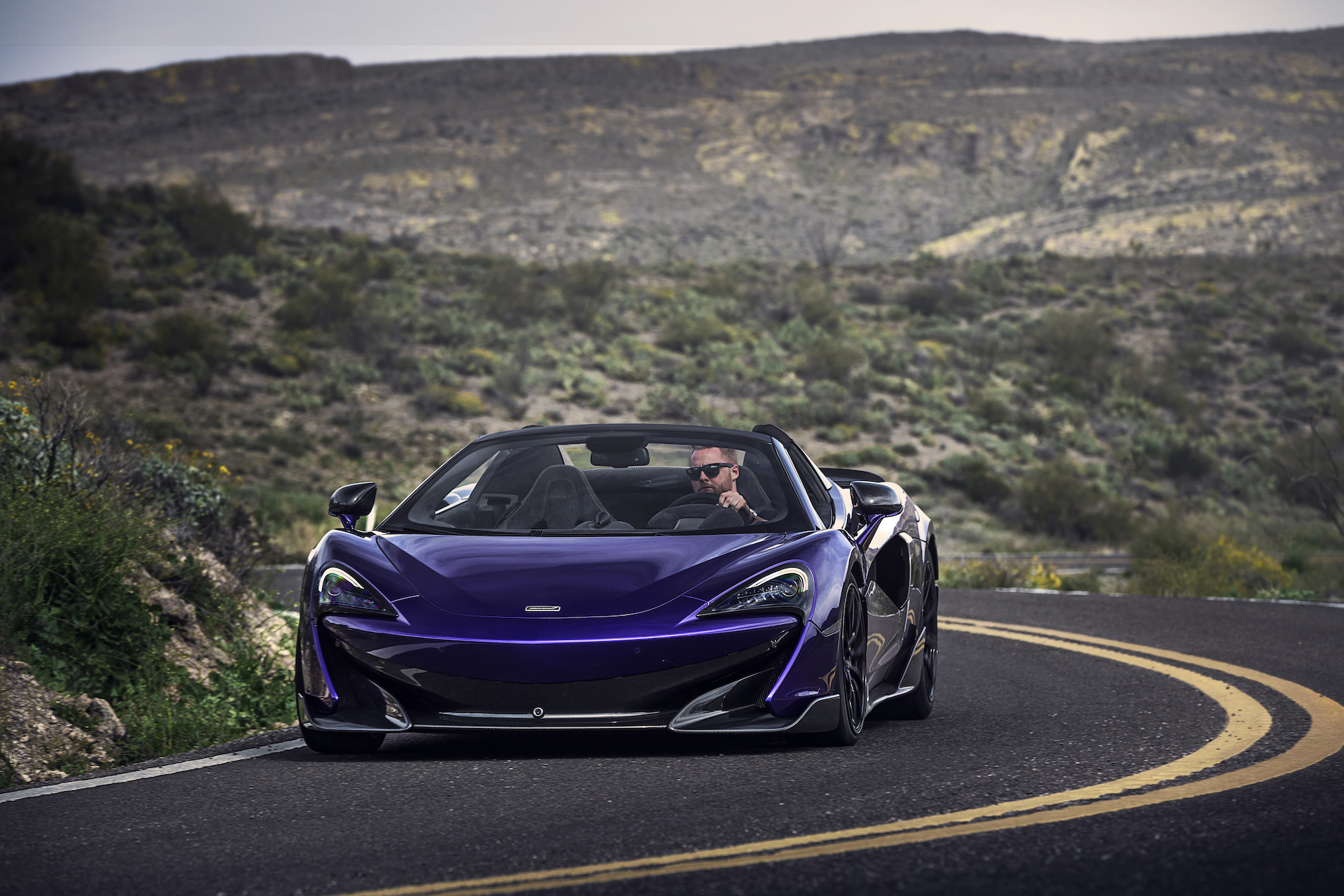 2020 McLaren 600LT Spider (Color: Lantana Purple) Front Wallpaper (13)