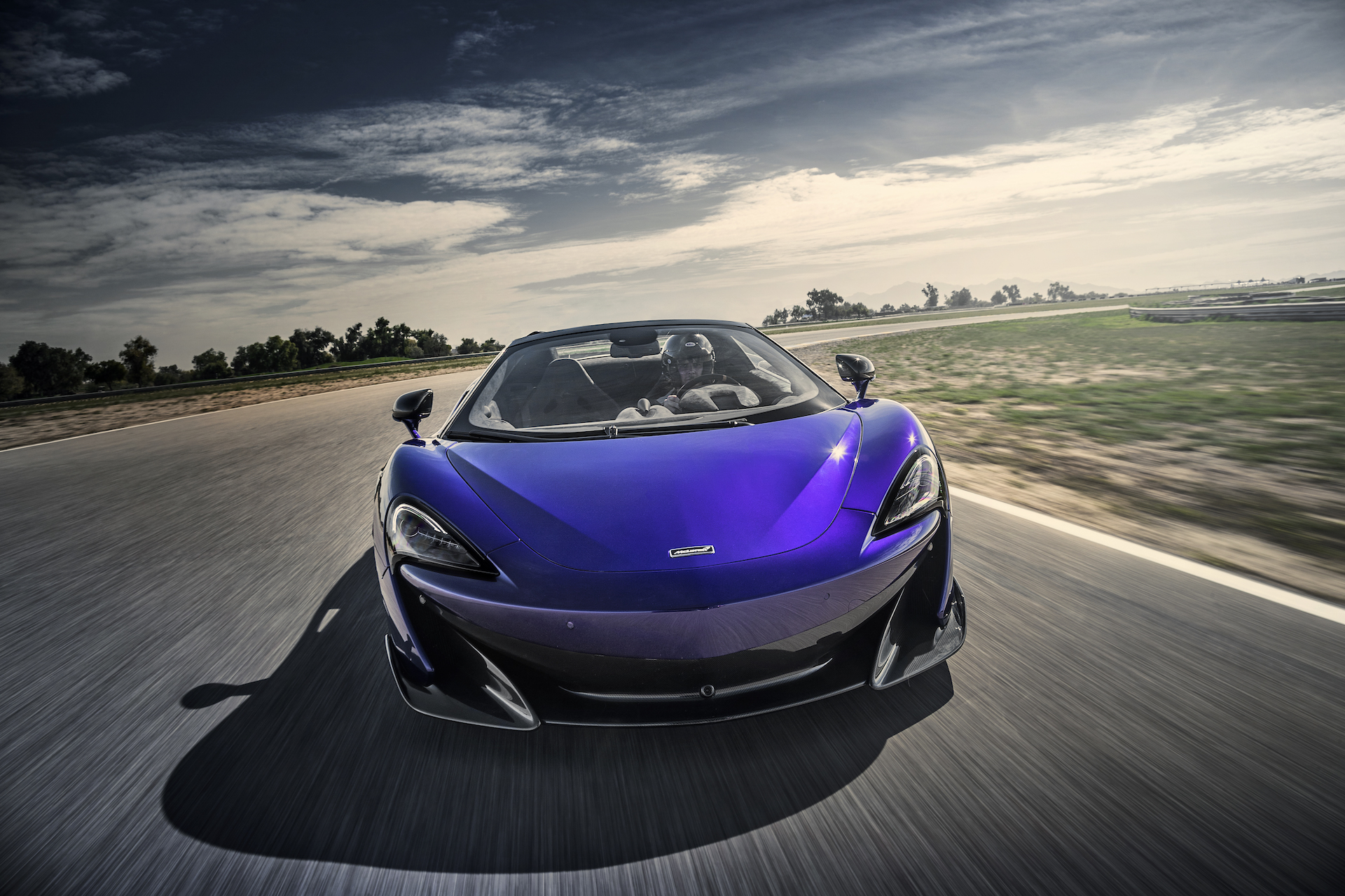 2020 McLaren 600LT Spider (Color: Lantana Purple) Front Wallpaper (6)