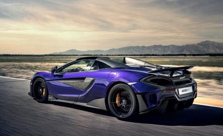 2020 McLaren 600LT Spider (Color: Lantana Purple) Rear Three-Quarter Wallpaper 450x275 (8)