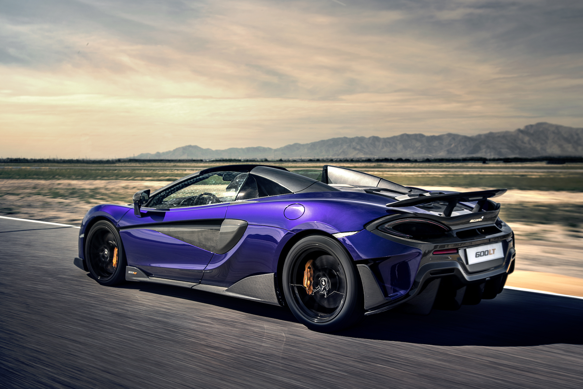 2020 McLaren 600LT Spider (Color: Lantana Purple) Rear Three-Quarter Wallpaper (8)