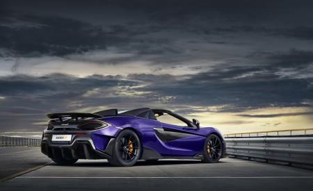 2020 McLaren 600LT Spider (Color: Lantana Purple) Rear Three-Quarter Wallpaper 450x275 (20)