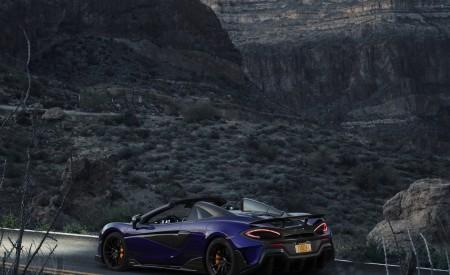 2020 McLaren 600LT Spider (Color: Lantana Purple) Rear Wallpaper 450x275 (15)