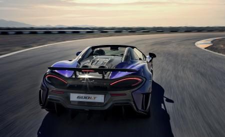 2020 McLaren 600LT Spider (Color: Lantana Purple) Rear Wallpaper 450x275 (10)