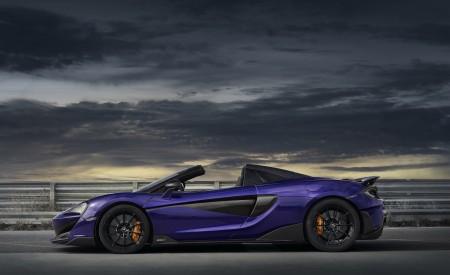 2020 McLaren 600LT Spider (Color: Lantana Purple) Side Wallpaper 450x275 (22)