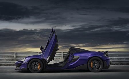 2020 McLaren 600LT Spider (Color: Lantana Purple) Side Wallpaper 450x275 (23)