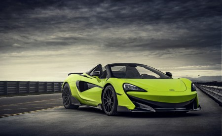2020 McLaren 600LT Spider (Color: Lime Green) Front Three-Quarter Wallpapers 450x275 (67)