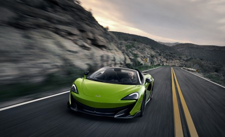 2020 McLaren 600LT Spider (Color: Lime Green) Front Three-Quarter Wallpapers 450x275 (61)