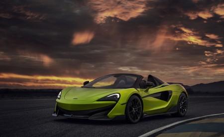 2020 McLaren 600LT Spider (Color: Lime Green) Front Three-Quarter Wallpaper 450x275 (68)