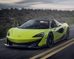 2020 McLaren 600LT Spider (Color: Lime Green) Front Three-Quarter Wallpapers 150x120