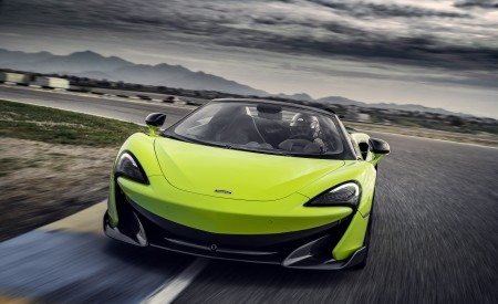 2020 McLaren 600LT Spider (Color: Lime Green) Front Three-Quarter Wallpapers 450x275 (56)
