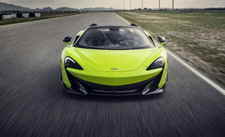 2020 McLaren 600LT Spider (Color: Lime Green) Front Wallpapers 450x275 (57)