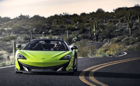 2020 McLaren 600LT Spider (Color: Lime Green) Front Wallpapers 450x275 (69)