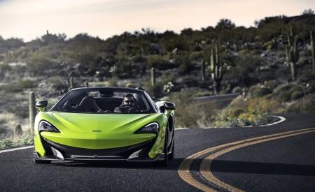 2020 McLaren 600LT Spider (Color: Lime Green) Front Wallpaper 450x275 (69)