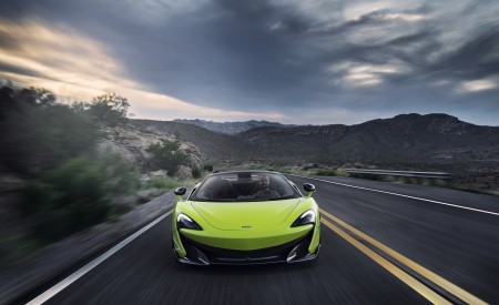 2020 McLaren 600LT Spider (Color: Lime Green) Front Wallpapers 450x275 (63)