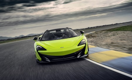 2020 McLaren 600LT Spider (Color: Lime Green) Front Wallpapers 450x275 (58)