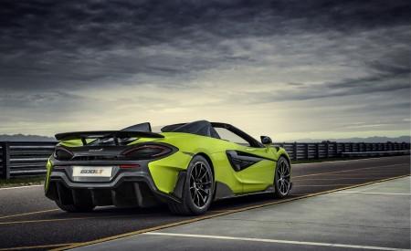 2020 McLaren 600LT Spider (Color: Lime Green) Rear Three-Quarter Wallpaper 450x275 (70)