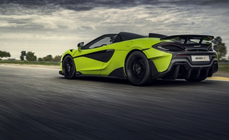 2020 McLaren 600LT Spider (Color: Lime Green) Rear Three-Quarter Wallpapers 450x275 (71)