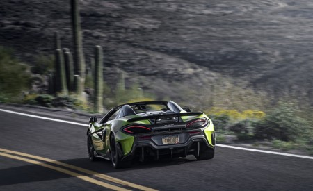 2020 McLaren 600LT Spider (Color: Lime Green) Rear Three-Quarter Wallpapers 450x275 (64)