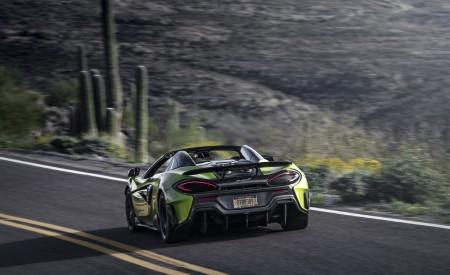 2020 McLaren 600LT Spider (Color: Lime Green) Rear Three-Quarter Wallpaper 450x275 (64)