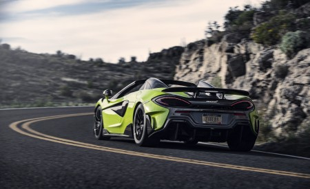 2020 McLaren 600LT Spider (Color: Lime Green) Rear Wallpapers 450x275 (72)