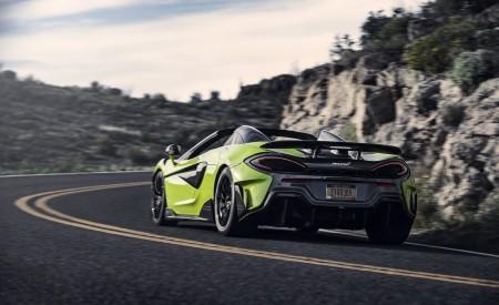 2020 McLaren 600LT Spider (Color: Lime Green) Rear Wallpaper 450x275 (72)
