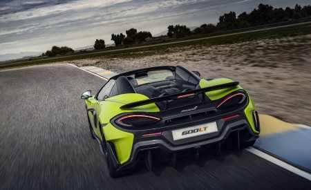 2020 McLaren 600LT Spider (Color: Lime Green) Rear Wallpapers 450x275 (60)