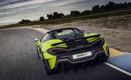 2020 McLaren 600LT Spider (Color: Lime Green) Rear Wallpaper 450x275 (60)