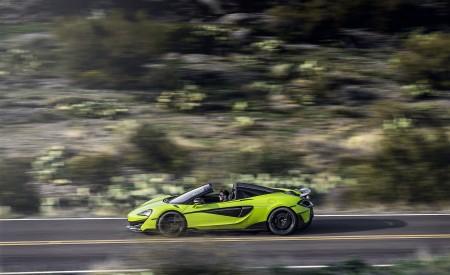 2020 McLaren 600LT Spider (Color: Lime Green) Side Wallpaper 450x275 (65)