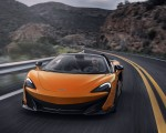 2020 McLaren 600LT Spider (Color: Myan Orange) Front Three-Quarter Wallpapers 150x120