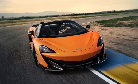 2020 McLaren 600LT Spider (Color: Myan Orange) Front Three-Quarter Wallpaper 450x275 (29)