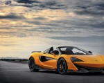 2020 McLaren 600LT Spider (Color: Myan Orange) Front Three-Quarter Wallpaper 150x120 (39)