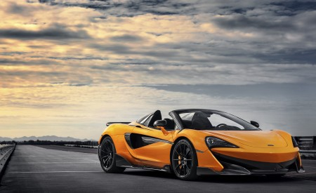 2020 McLaren 600LT Spider (Color: Myan Orange) Front Three-Quarter Wallpaper 450x275 (39)